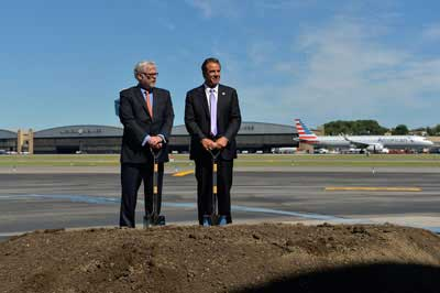 Governor Cuomo and Former Port Authority Executive Director Pat Foye Break Ground for New Terminal B at LGA