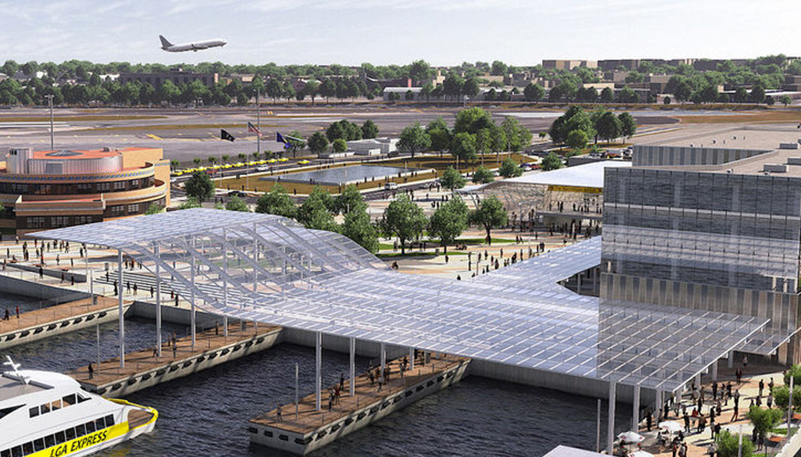 Rendering of possible future water taxi station at LGA