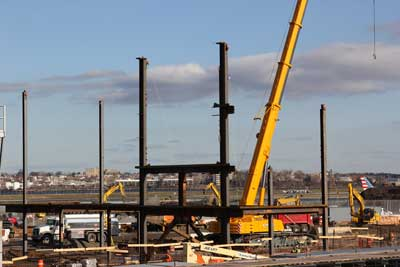 Steel Erection for New Terminal B Eastern Concourse at New LGA