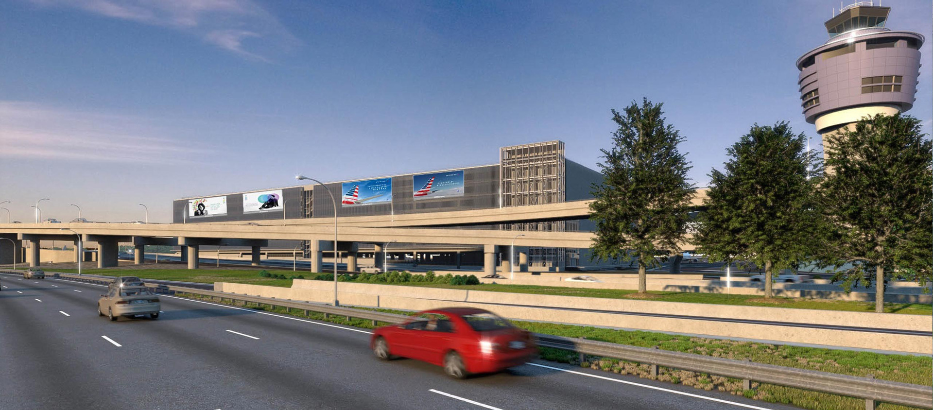 Rendering of new roadways at LGA