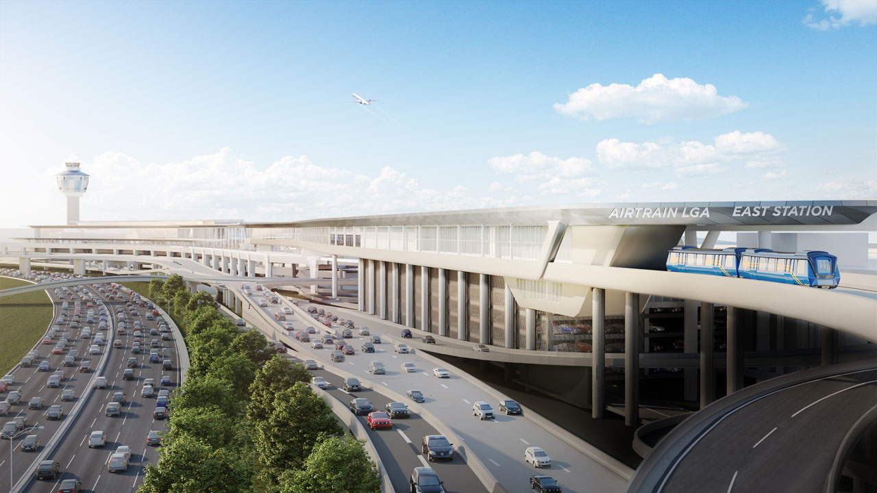 Rendering of proposed AirTrain LGA