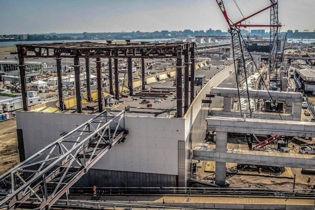 Steel Erection for Central Hall at New LGA