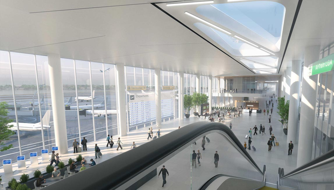 Rendering of new Terminal B at LGA