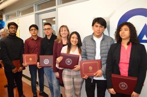 Port Authority awards scholarships for Vaughn College to 6 local high school graduates