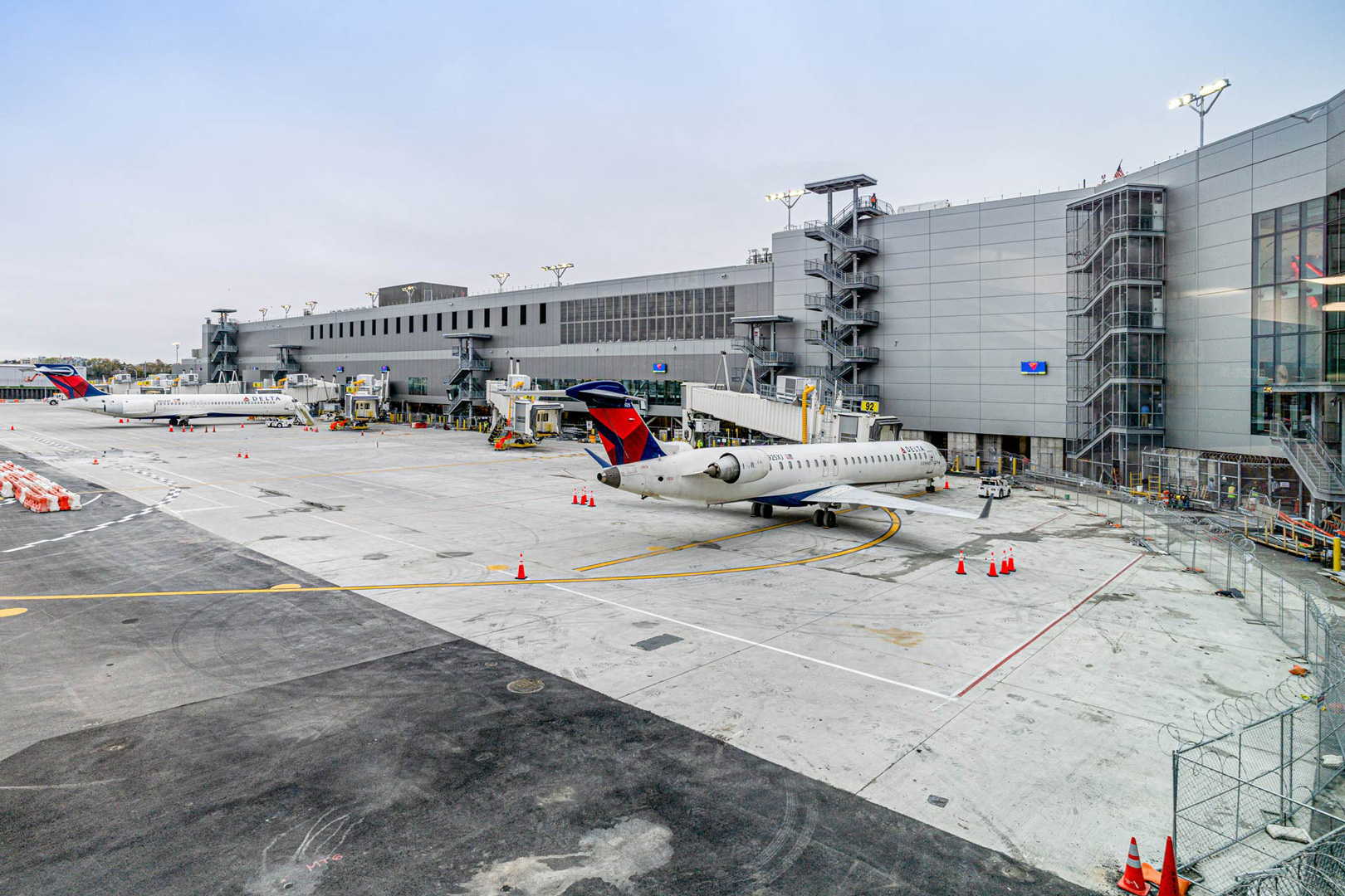 Delta New Terminal C Concourse G Airside View