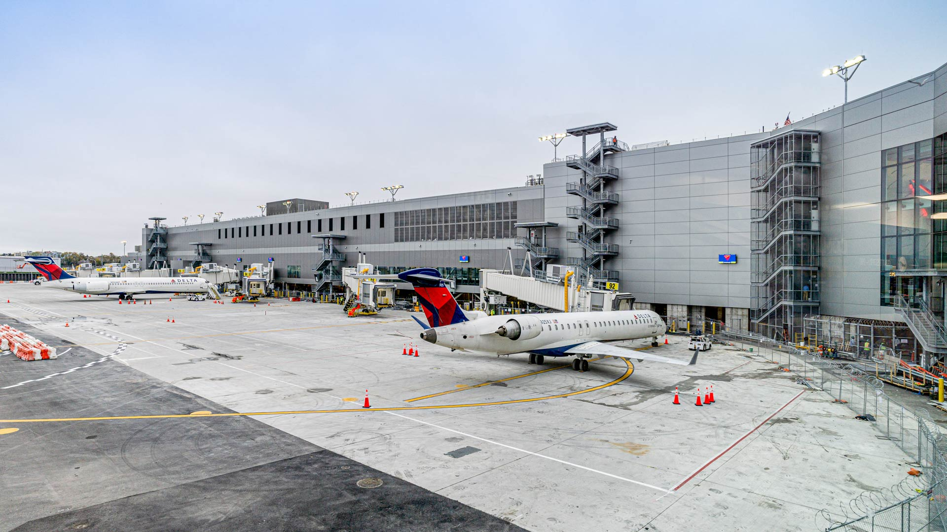 Exterior of Delta's new Concourse G at LGA