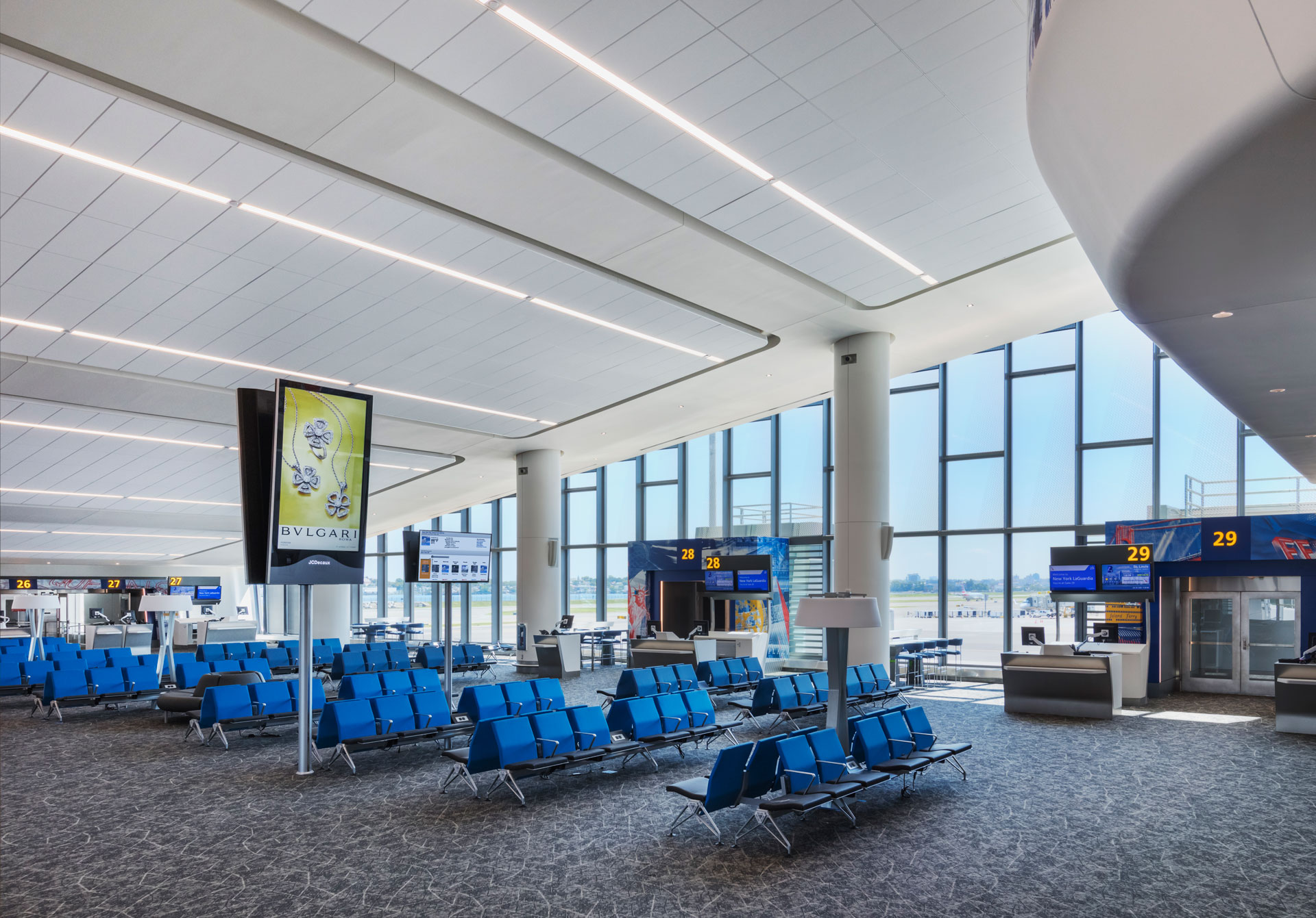 Image of new gates and concourse at LaGuardia Terminal B