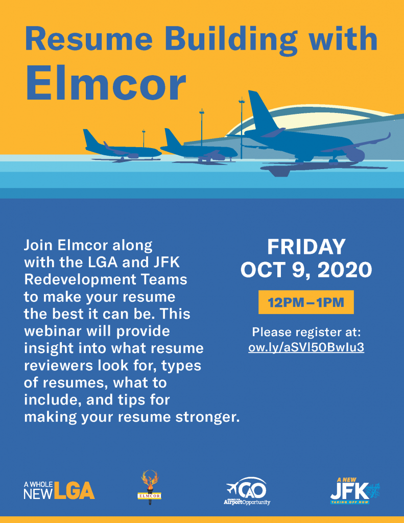 Resume Building with Elmcor Oct 9