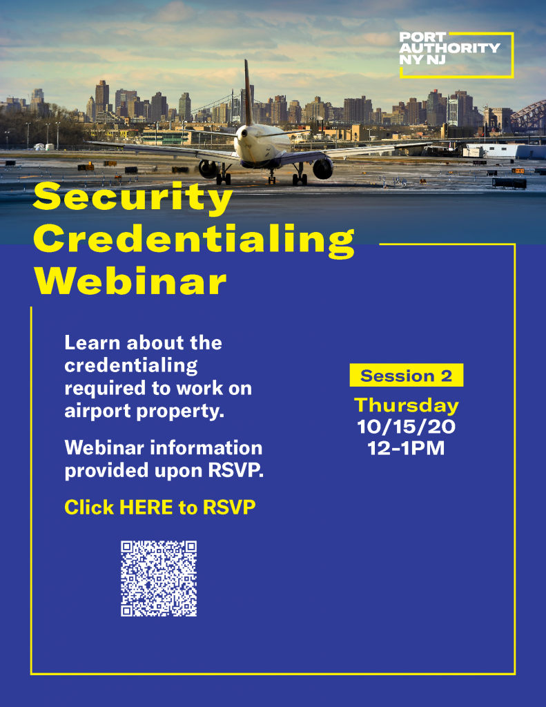 Security Credentialing Webinar flyer Oct 15